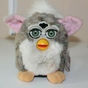 VINTAGE INTERACTIVE ORIGINAL  'FURBY' GREY AND WHITE WITH TAG