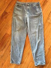 Vintage Riders Women's High Waist Tapered Leg Mom Denim Blue Jeans 14M? 32x30