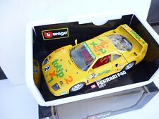 Burago 1/18 FERRARI F-40 TOTIP NO:2 IN YELLOW VERY NICE  TOP IN BOX