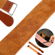 Cow Leather Manual Strop Straight Barber Shave Razor Blade Sharpen Strap Brown D