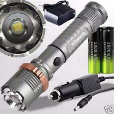 5000lm Tactical Police CREE XML T6 LED Zoomable Flashlight 18650 Battery Charger
