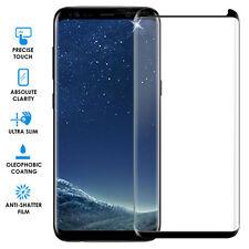 Samsung Galaxy S8 Vidrio Templado [caso amistoso] 4D protector de pantalla-Negro