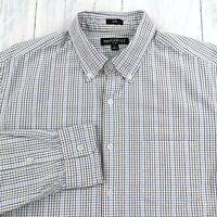 J Crew Mens Slim Fit Shirt Sz Large Mercantile Flex Plaid Long Sleeve Button Up
