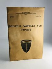 Us Army Military Drivers Pamphlet for France 1963 Apo 58 Rare Book Vietnam War