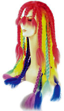 Adult Rainbow Dreadlock Braids Rasta Wig Costume Parade Accessory LW453RB