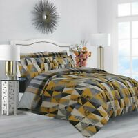 New Cotton Duvet Cover Single Double King Size Quilted Bed Covers & Pillowcases