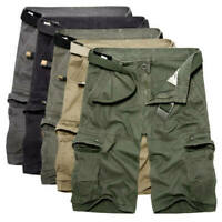 Mens Cargo Tactical Military Combat Trousers Half Shorts Pants Casual Camo Army