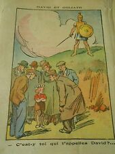 David et Golitah C'est y toi qui t'appeles David ? Print 1937