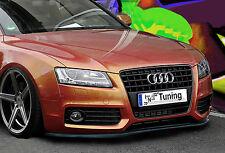 Spoilerschwert Frontspoiler Lippe Cuplippe aus ABS für Audi A5 B8 mit ABE