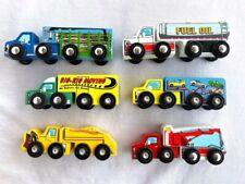 MELISSA & DOUG Wood Truck trailers lot of 6