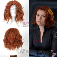 Avenger Alliance Widow Short Curly Brown Cosplay Wigs