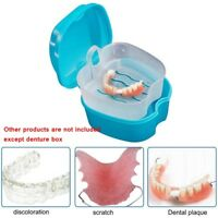 Denture Retainer Case Box Orthodontic Mouth Guard False Teeth Dental Storage FR