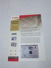 Canon Powershot AFZoom digital camera advertising leaflet