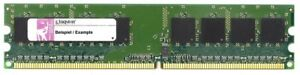 2GB Kit (2x1GB) Kingston DDR2-400 PC2-3200R ECC Reg Server RAM CL3 KTM2865/2G