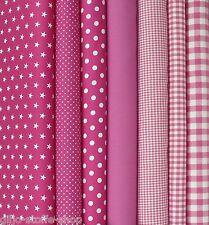 Baumwollstoffe Pink Meterware Stoffe Punkte Sterne Karo Uni Patchwork 9,80€m