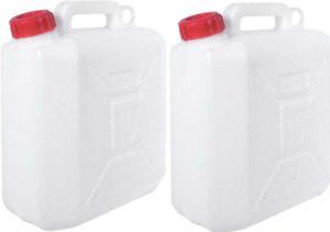 2X Water Storage Containers 10l ltr Litre Carrier Spout Food Grade Jerry Can