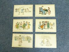 KATE GREENAWAY EARLY DRAWINGS LOT OF 6 NEW POSTCARDS