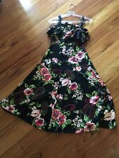 Handmade Rockabilly Swing floral dress - Size 10