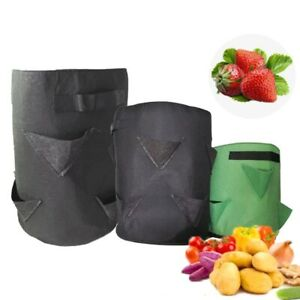 5 7 10 Gallon Garden Strawberry Planter Plant grow Bags pots home Container