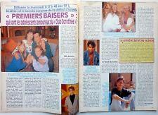 Feuilleton PREMIERS BAISERS (AB Productions) =>  coupure de presse 2 pages 1992