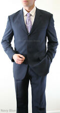 NEW TWO PIECE MEN'S STRIPED SUIT FORMAL PROM WEDDING ATTIRE FATHER OF THE GROOM
