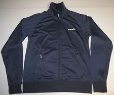 Mens Bench Full Zipper Track Jacket Large Blue High Collar Logo Embroidery