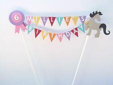 Handmade Personalised Cake Topper - Birthday /Horse/Pony/Gymkhana