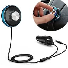 Wireless Bluetooth 4.0 Audio Music Receiver Adapter with 2 USB Car Phone Charger