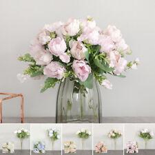 Finto Peonia Rosa Bouquet Fiore Artificiale Casa Festa Matrimonio Tavolo Decor