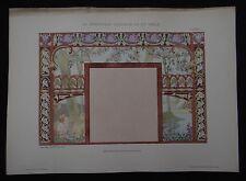 PLANCHE 23 DECORATION PICTURALE 1900 ART NOUVEAU Bastien-Lepage Jugendstil