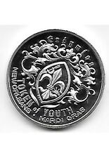 2014 KREWE OF ENDYMION SILVER PLATED BRONZE MARDI GRAS DOUBLOON EVENING AT OPERA