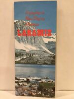 1970 ENJOYING A NEW DAY IN HISTORIC LARAMIE WYOMING Travel Brochure and Map