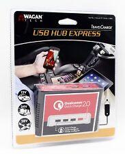 Wagan Tech USB Hub Express Travel Smart Charge 2.0 12v 24v 28v DC Plug Auto RV