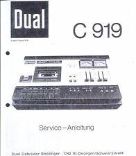 Dual Service Manual für C 919