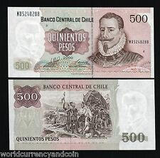 CHILE 500 PESOS P153 2000 FLAG MILLENNIUM UNC LATINO CURRENCY MONEY BANK NOTE