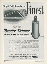 1949 Bendix Aviation Ad Jet Fuel Filter Wright Field Dayton Ohio Airport OH