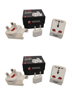 2 x Mobi Universal Worldwide Travel Adapter plug with USB Connection MMTA01