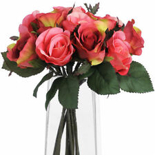 Rose Plastic Dried & Artificial Flower Bunches