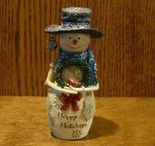 "Birch Hearts Snowmen Figurine   81141 ""Happy Holidays"", by BARB McDONALD 5"""