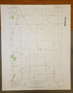 "Sargeant, Minnesota Original Vintage 1966 USGS Topo Map 27"" x 22"""