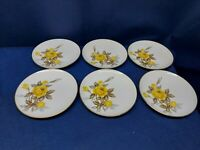 Mid-Century Sango COTILLION Yellow Rose Fine China Set/6 Bread/Salad Plates