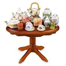 "Dollhouse Miniature ""Tea Tasting"" Table Display by Reutter Porcelain"