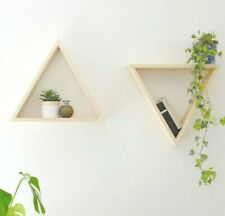 Upcycled Large Floating Shelves Triangle Shape - Handmade out of pallet planks