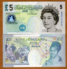 Great Britain 5 pounds, (2012), P-391 (391a) QEII, UNC > England