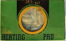 Vintage Kwick Way Kwickway Electric Heating Pad In Box