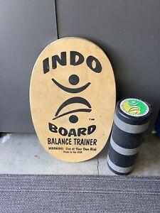 Original INDO Board Balance Trainer Fitness Yoga Board And Roller