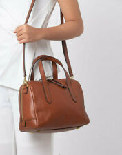 Fossil Sydney Satchel Crossbody Medium Brown Leather Handbag SHB1978210