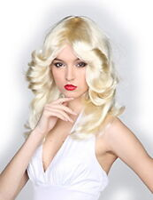 70's Disco Wig Blonde Feathered Style Synthetic Hair Costume Wig