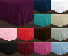 Luxury Non Iron Standard Extra Deep Fitted Valance Sheets Single Double King,YAW