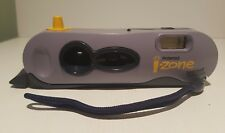 Retro Polaroid i-zone instant film pocket camera built-in flash izone purple